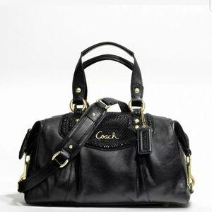 Coach exotic phyton handbag